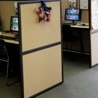 Kiosk area of Omni Military Loans, Military Lender in Norfolk, VA