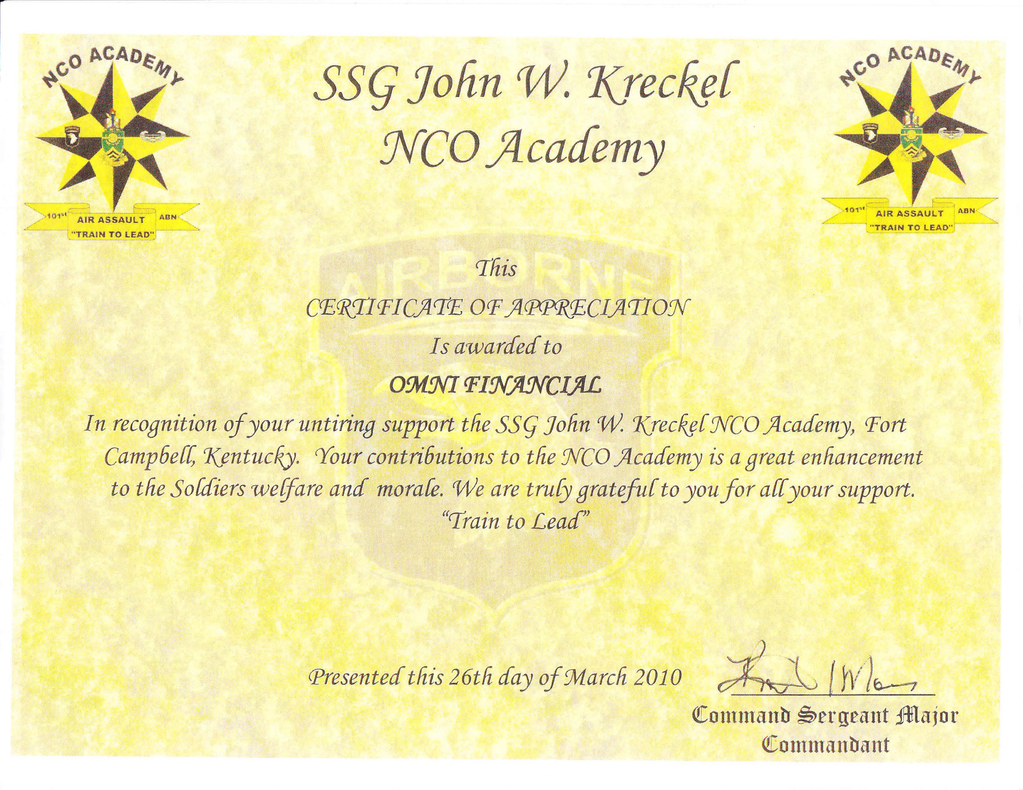 Fort Campbell NCO Academy - Bing images