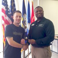 Omni Financial Hinesville, GA: Customer Eric with General Manager Robert Taylor