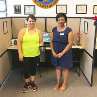 Omni Financial Newport News, VA: Customer Megan with Customer Care Specialist Brittany