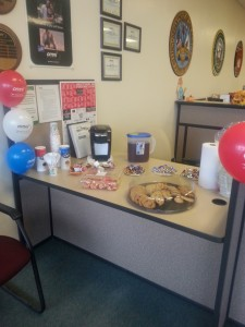 Interior Decorations with Balloons and cookies