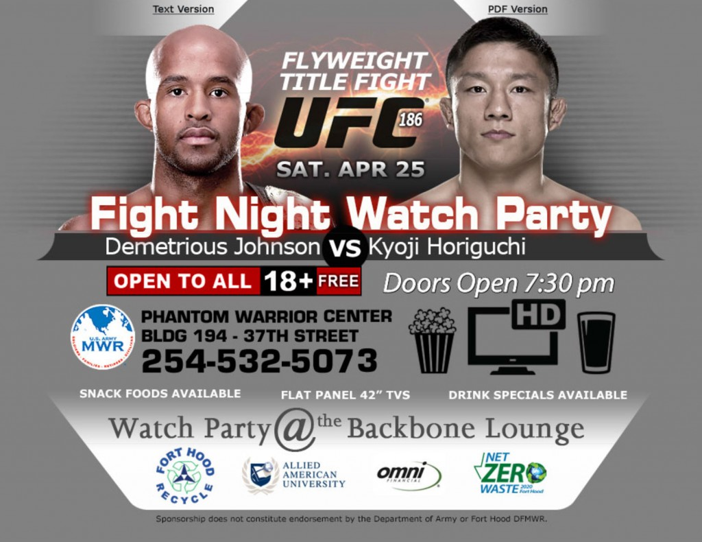 April_2015_UFC186FightnightWatchApr25_2015Party_Killeen_TX_flyuer