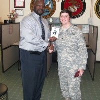Omni Financial Fayetteville, NC: Customer SGT Jamie Karpinski, with Omni General Manager Wray Williams