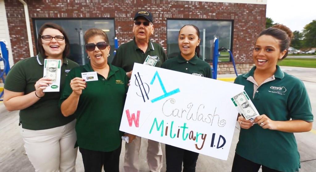 Omni Clarksville, TN $1 Car Wash Event - Omni Military Loans®