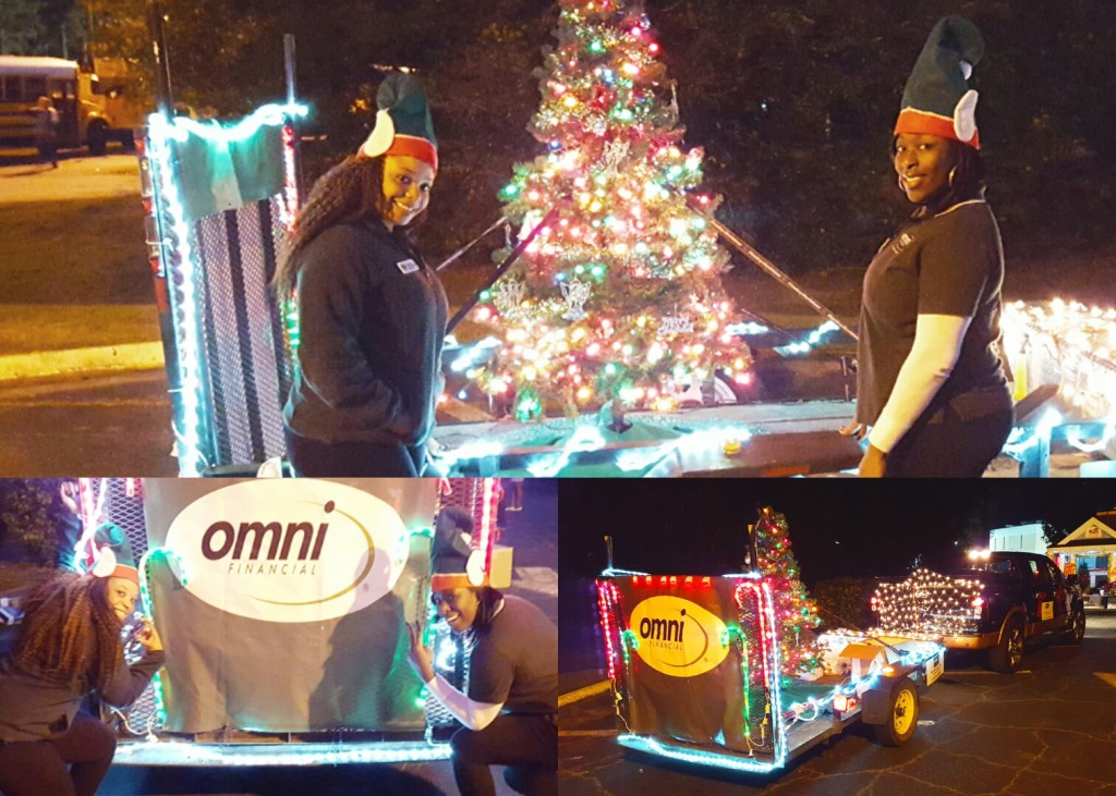 Omni Military Loans Hinesville Christmas Parade collage