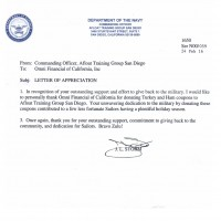 Omni Military Loans Department of Navy Letter of Appreciation 200x200