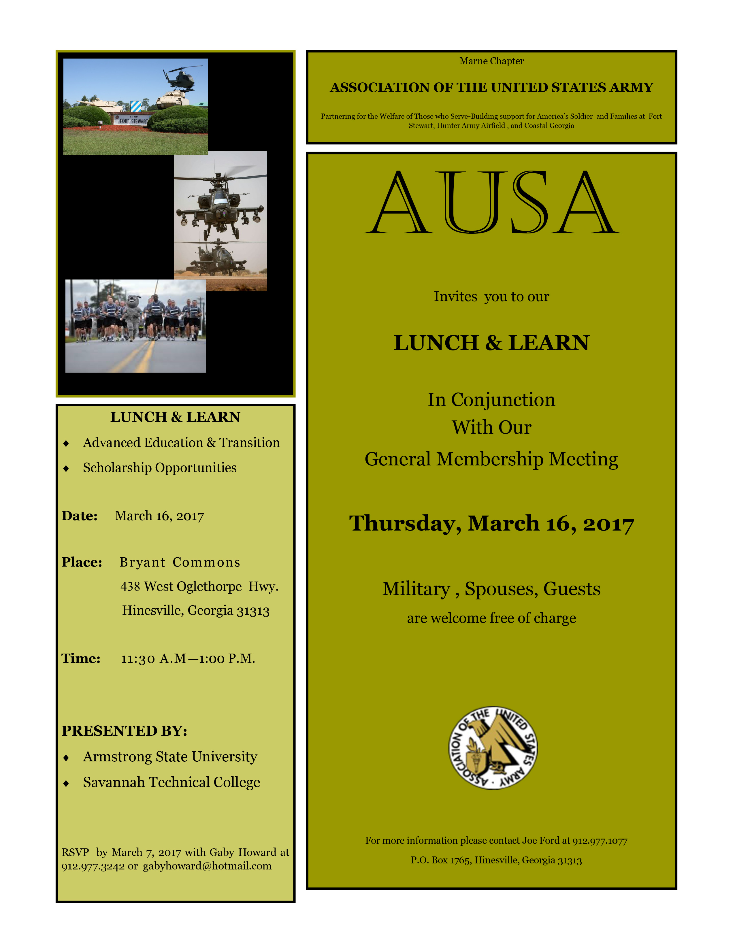 AUSA Lunch and Learn 2017