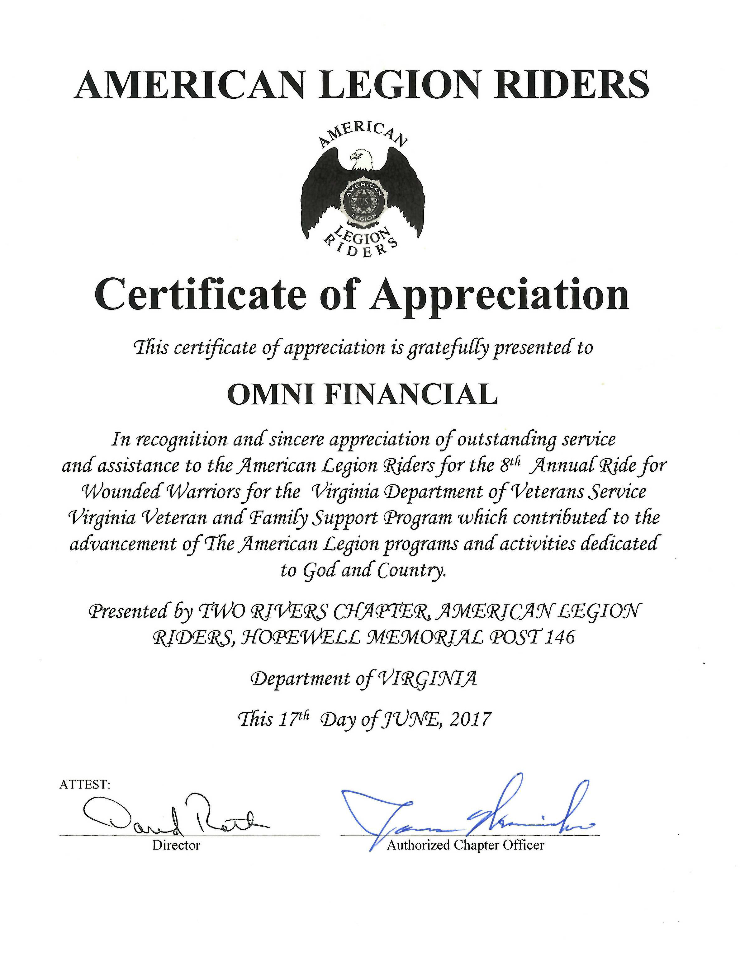 Accolades Archive - Page 6 of 17 - Omni Financial®