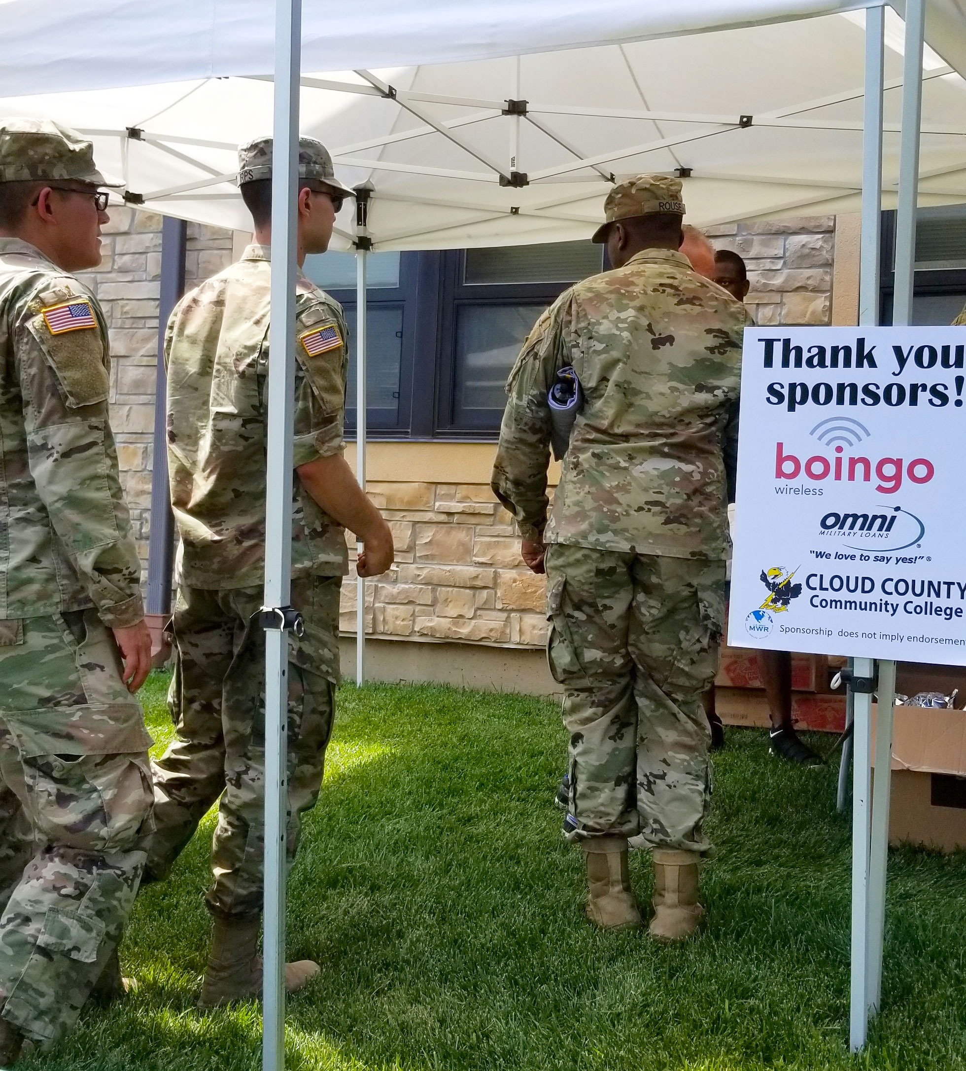 Omni Military Loans BOSS BBQ at Fort Riley in Junction City, Kansas sponsorship