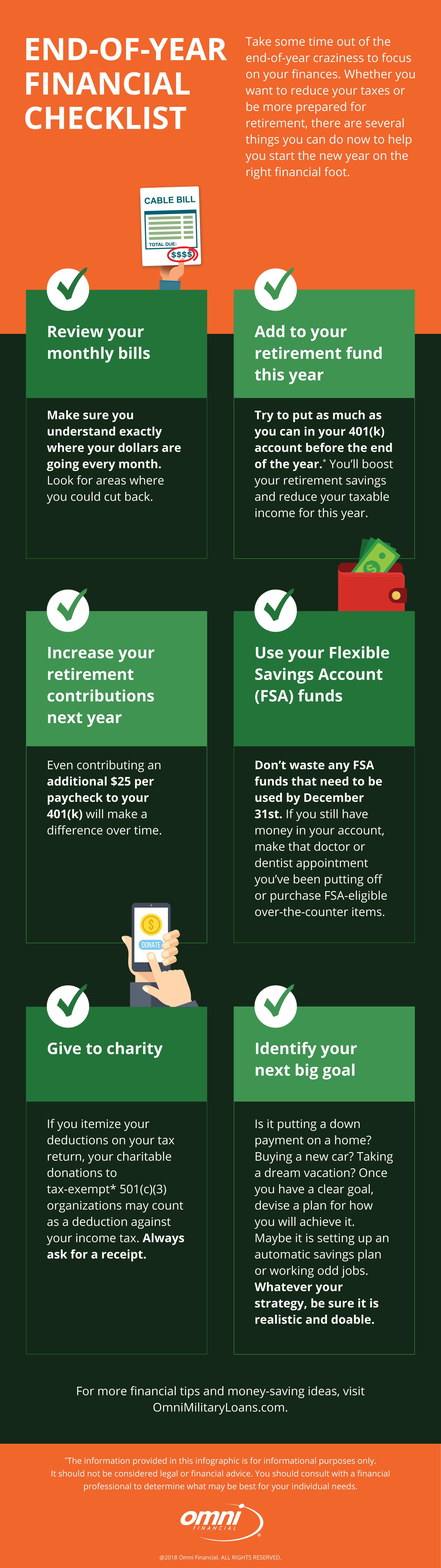 End-of-Year Financial Checklist