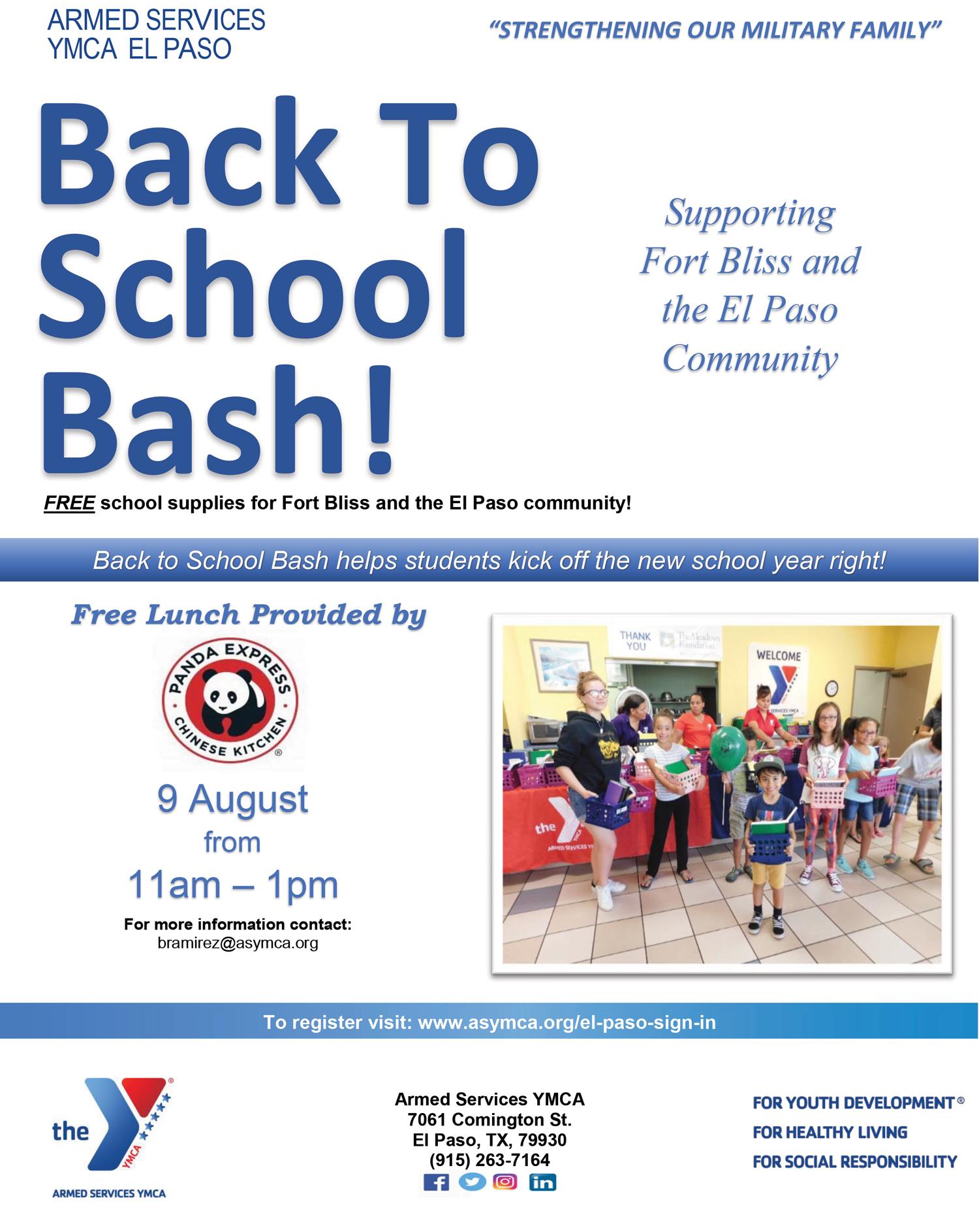 Back to School Bash Flyer El Paso