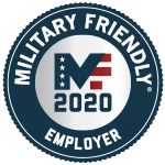 2020 Military Friendly Employer Award presented to Omni Financial from Viqtory Media's GI Jobs Magazine