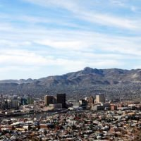 An aerial view of El Paso, Texas