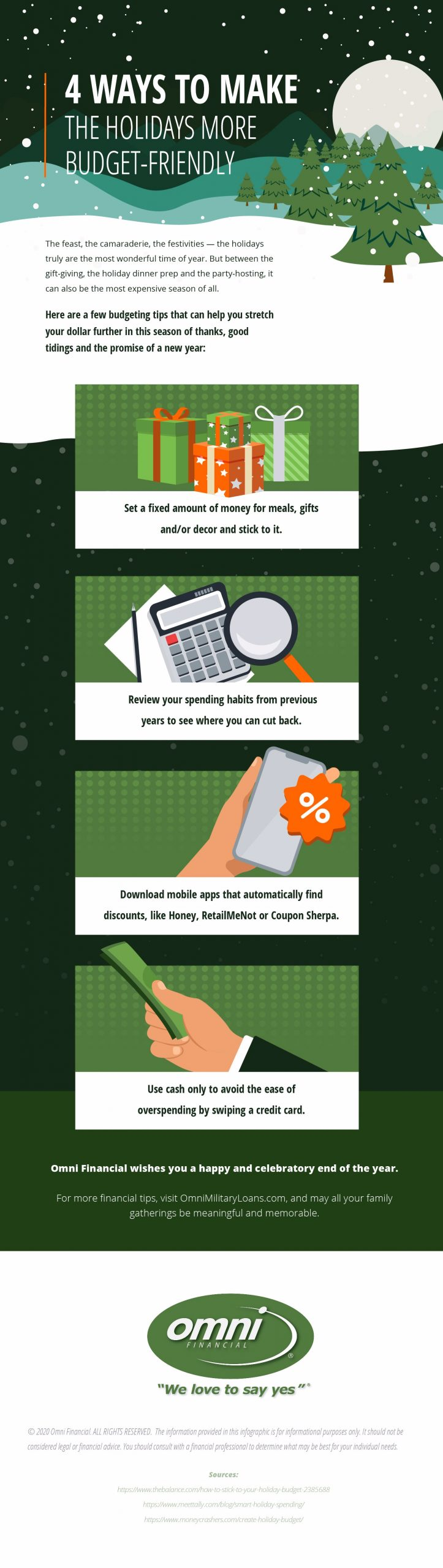 Four tips for making the holiday season more budget-friendly.