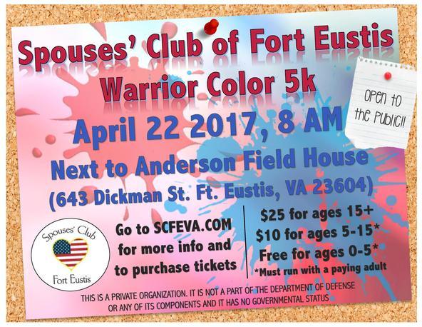Spouses' Club of Fort Eustis Warrior 5K