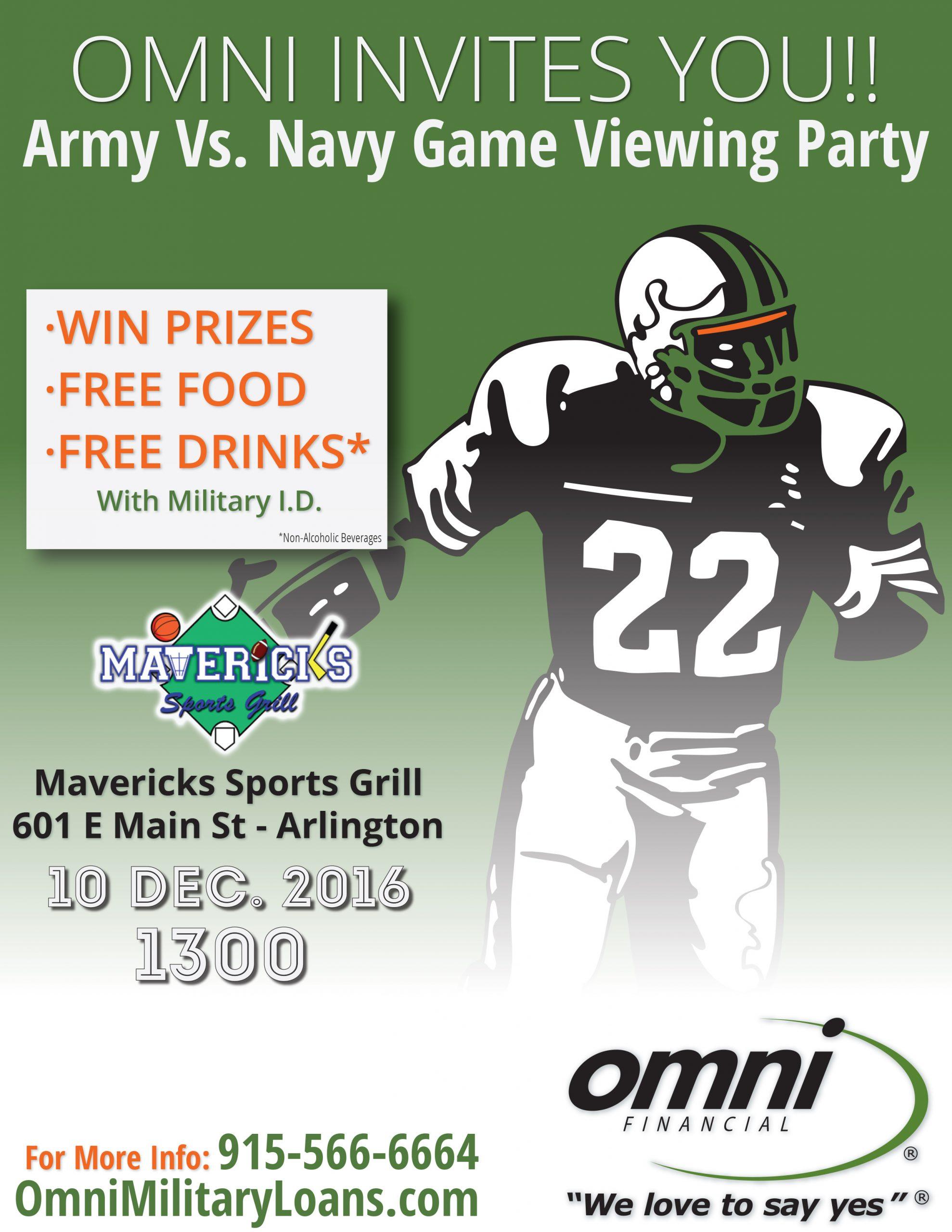Army Vs. Navy Football Game 2016