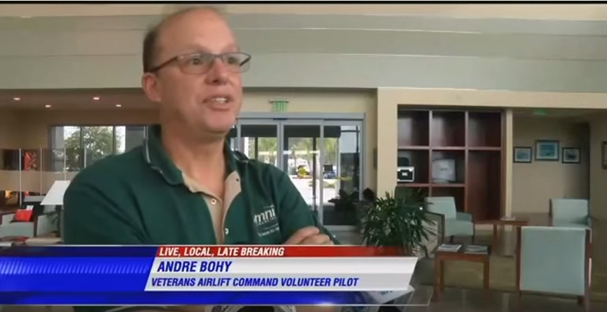 Veterans Airlift Command to Fly a Wounded Warrior to be with His Family