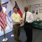 Omni's Columbus, GA office: Customer Freddie, with Omni General Manager Richard Sanders.