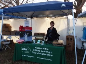 Fort Lee Grand Illumination CCS Ashley Omni Booth Goodies and Cookies Current Alt Text   Omni Military Loans