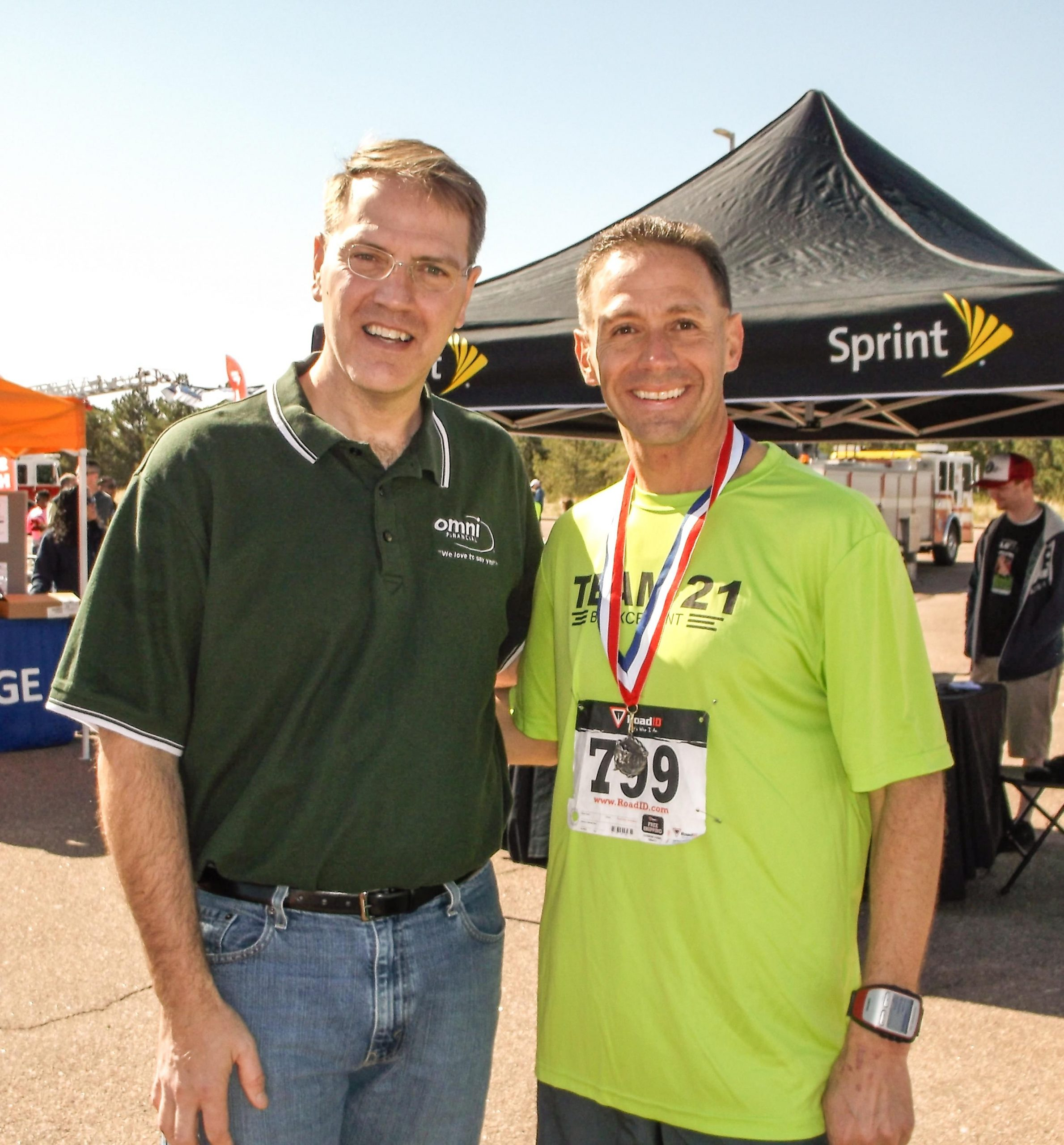 Dave and CMSGT Rich Redman_May_2014_Armed Forces Community Run_Ft Carson_CO_image