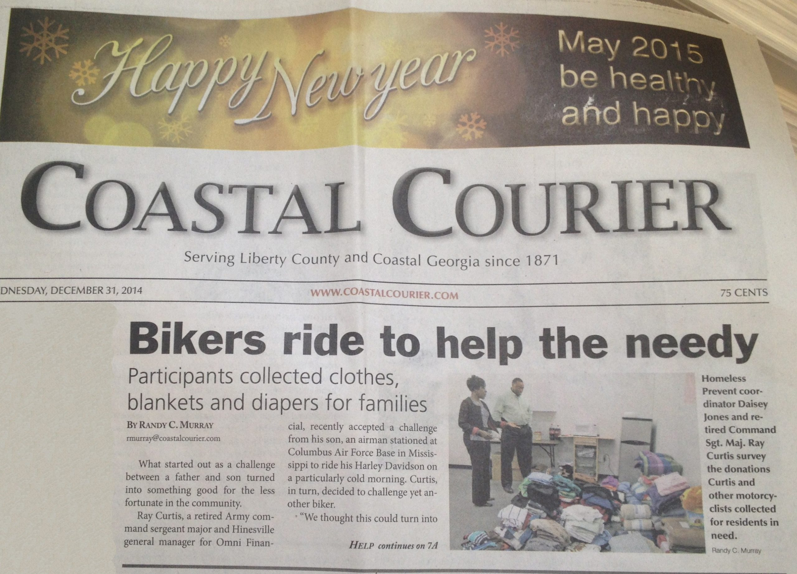 December_2014_Motorcycle Charity Drive_Hinesville_GA_media excerpt_Coastal Courier1edited
