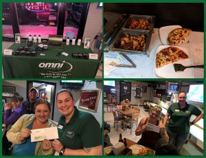 Omni of Evans Mills Staff at Big Game Event 2019 at Whistle Stop Tavern   Omni Military Loans