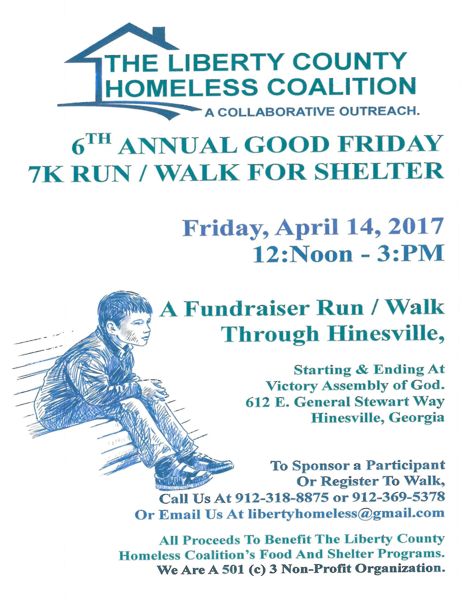 LCHC 6th Annual Good Friday 7K Run/Walk for Shelter