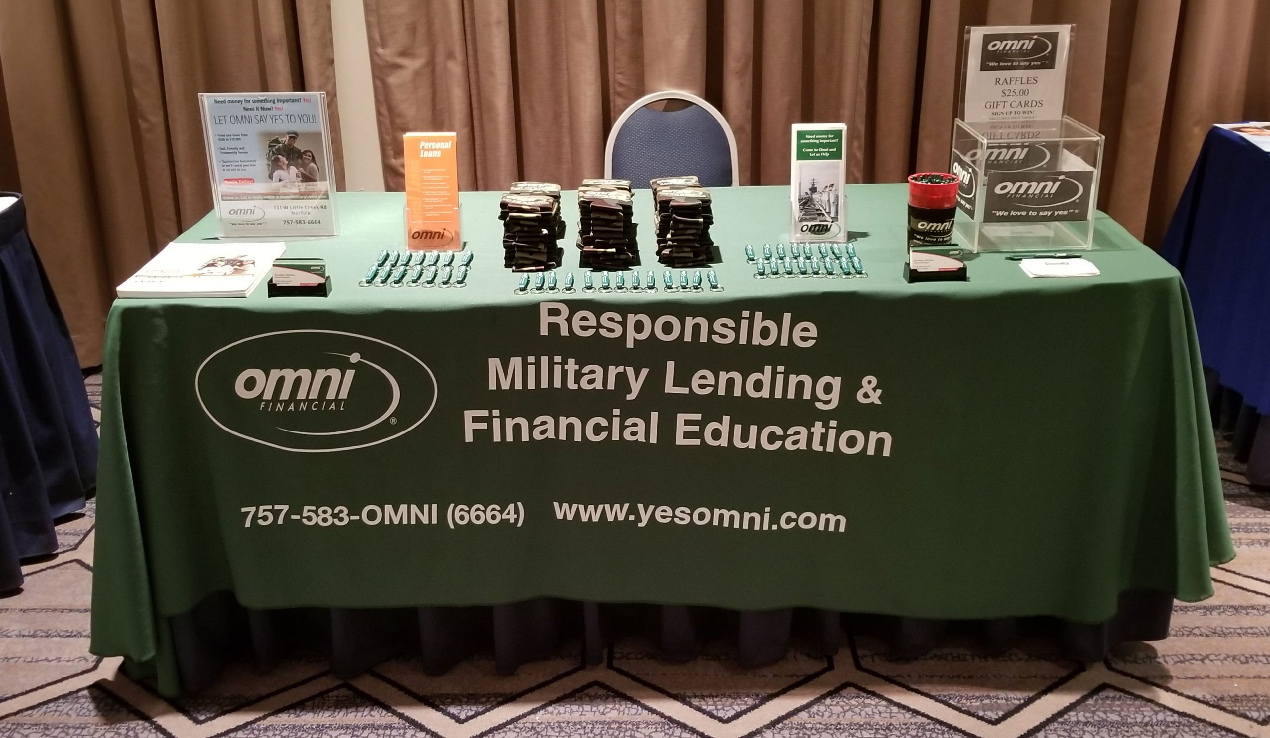 omni booth hrcc military recognition reception