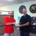 Omni's Leesville, LA office: Customer David, with Omni General Manager Troy Boudreaux.