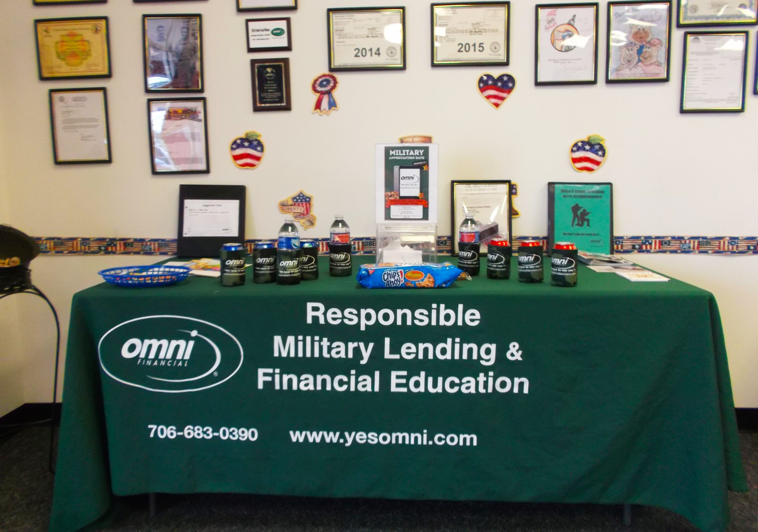Omni Military Appreciation Days Columbus Georgia Office Table
