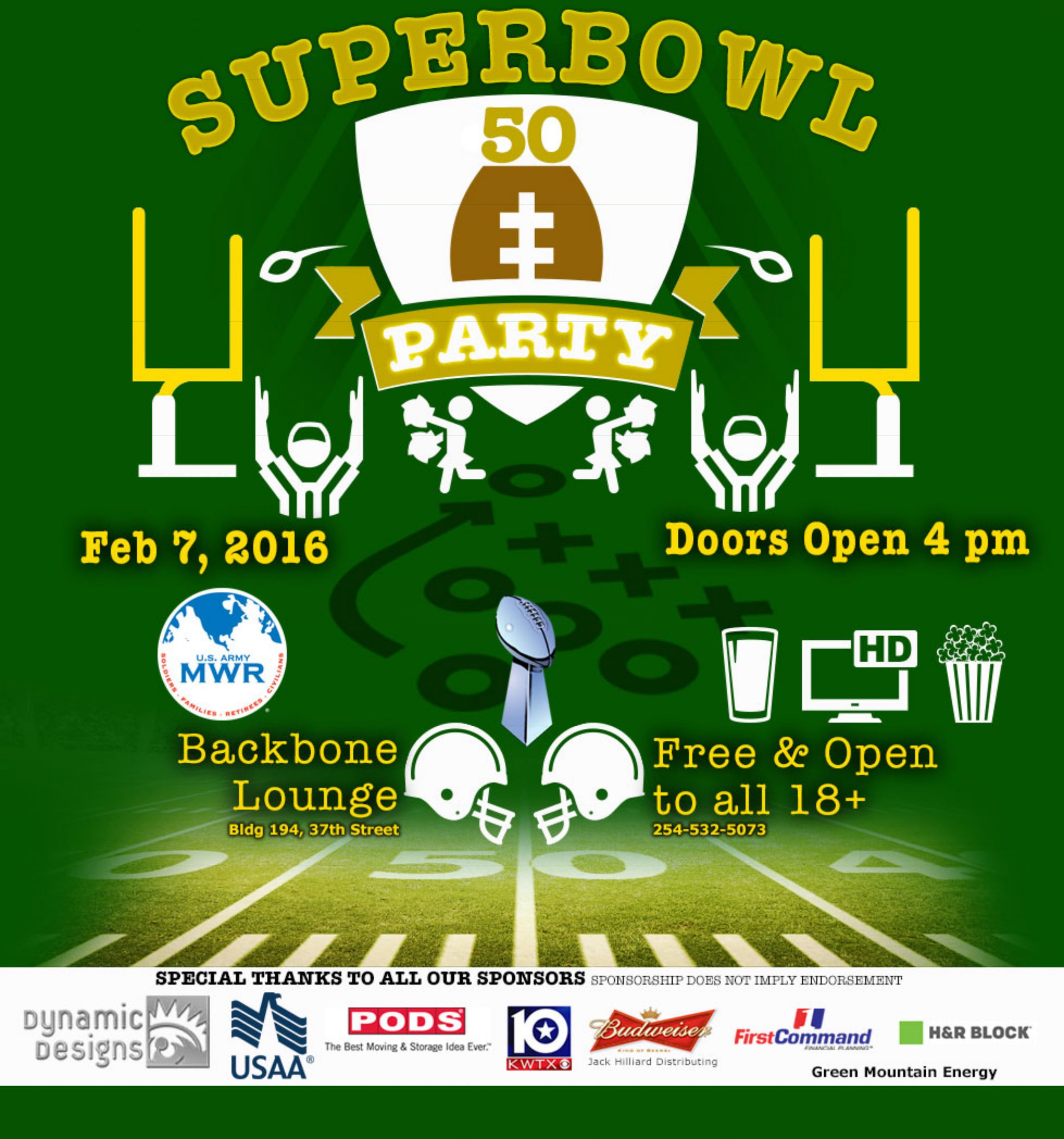 Superbowl 50 Party, Feb 7, 2016