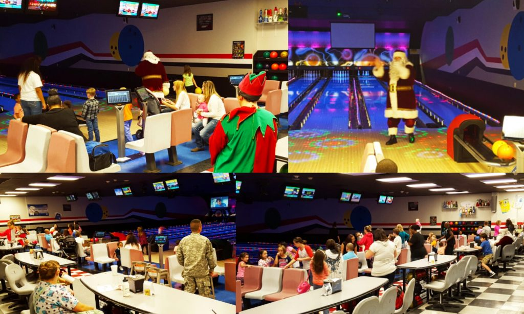 Omni Military Loans Hinesville MWR Bowling with Santa Collage