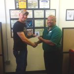 Omni Financial Killeen, TX: Customer Donald McCrary, with General Manager Keith Collands