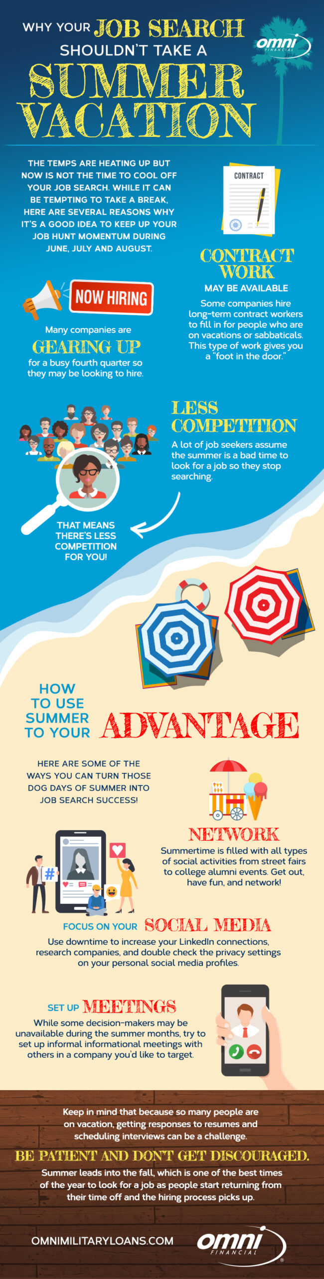 Infographic:  Why Your Job Search Shouldn't Take A Summer Vacation