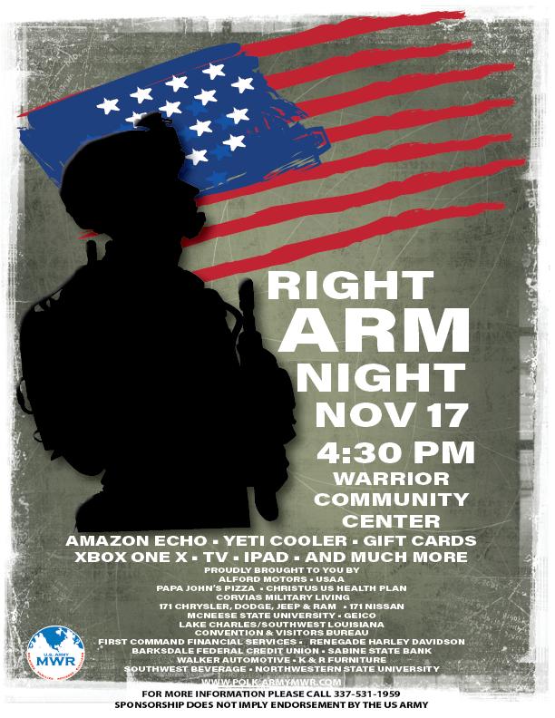 Fort Polk Right Arm Night 2017