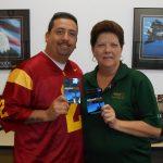 Omni Financial Clarksville, TN: Customer Joseph Pardo, with Omni General Manager Glenda Williams.