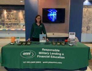 Omni Military Loans booth at the Ted Constant Center in Norfolk, VA