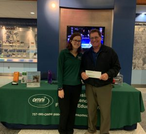 Omni Military Loans winner at the Ted Constant Center in Norfolk, VA